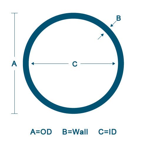 "1-1//2/"" OD x 24/""-Long x 3//8/"" Wall  6061 T6511 Aluminum Round Tube-/>1.5/"" OD x .375"