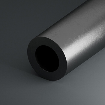 2,5m Stainless steel pipe railing Pipe d60 3x2mm 1.4301 Polished Brushed Grain 240.